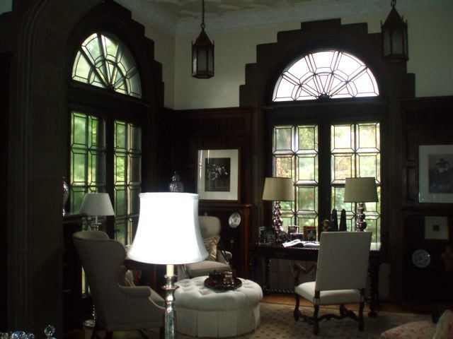 Simple, but elegant leaded glass